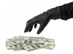 Hand in glove and money